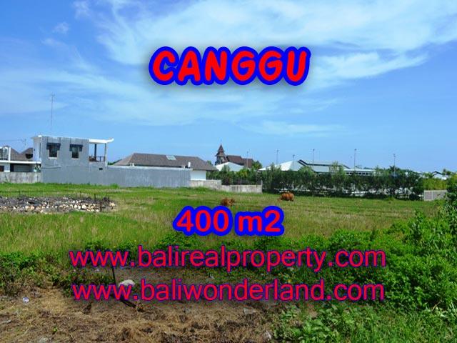 Tanah dijual di Canggu Bali 400 m2 view sawah di Canggu Brawa