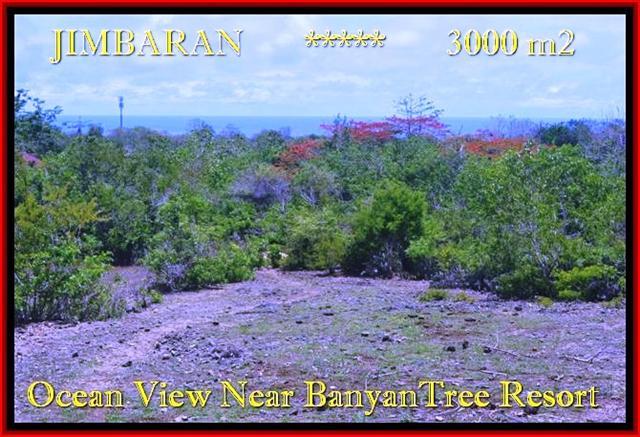 TANAH JUAL MURAH JIMBARAN 3.000 m2 View laut , bukit dan hotel