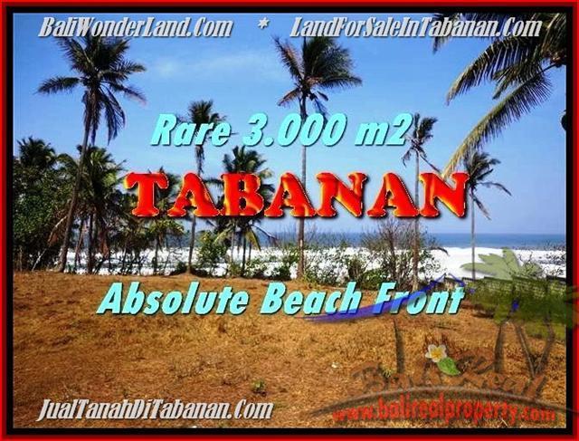 TANAH di TABANAN BALI DIJUAL MURAH 3.000 m2 View gunung laut dan sawah