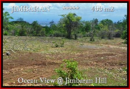 JUAL TANAH di JIMBARAN 400 m2 View laut Lingkungan villa