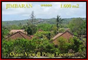 JUAL TANAH di JIMBARAN 1.600 m2 View laut , bukit dan hotel