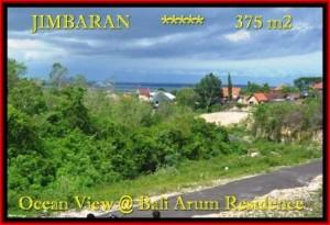 TANAH JUAL MURAH JIMBARAN 375 m2 View laut Lingkungan villa