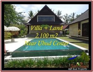 JUAL TANAH di UBUD 2,190 m2  View sawah, kebun, link Villa