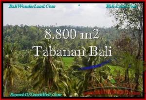 JUAL TANAH di TABANAN 8,800 m2 View laut, Sawah dan Gunung