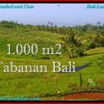 TANAH MURAH JUAL di TABANAN BALI 1,000 m2 View Laut dan sawah