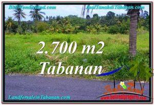 JUAL TANAH MURAH di TABANAN BALI 2,700 m2  View gunung dan sawah