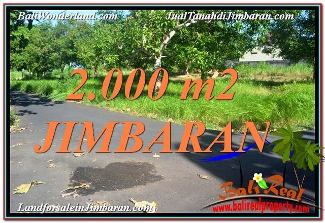 JUAL MURAH TANAH di JIMBARAN BALI 2,000 m2 di Jimbaran Uluwatu
