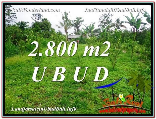INVESTASI PROPERTY, JUAL TANAH MURAH di UBUD BALI TJUB592