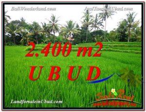JUAL MURAH TANAH di UBUD BALI 2,400 m2  View Sawah link Villa