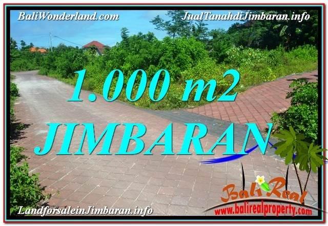 TANAH MURAH di JIMBARAN BALI 1,000 m2 Lingkungan Villa