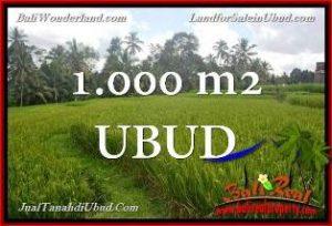 TANAH di UBUD BALI DIJUAL MURAH 1,000 m2 di Ubud Tegalalang