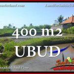 TANAH MURAH JUAL di UBUD BALI 400 m2 View Sawah link Villa