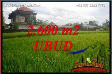 Investasi Properti, Dijual Murah Tanah di Ubud Bali TJUB701
