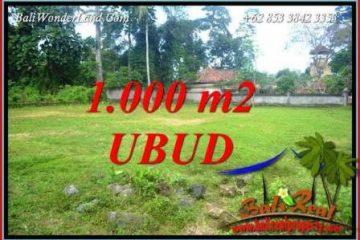 Tanah Dijual di Ubud 1,000 m2 View Lingkungan Villa