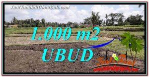 JUAL TANAH di UBUD 1,000 m2 View Sawah