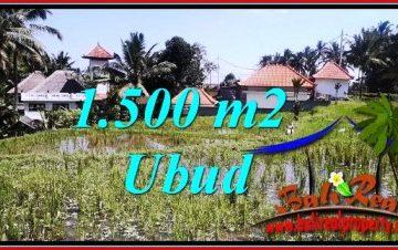 JUAL MURAH TANAH di UBUD BALI 1,500 m2 View sawah
